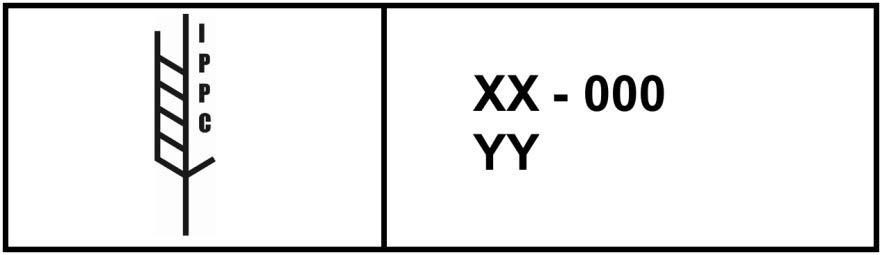Marking menunjukkan bahawa bahan pembungkusan kayu telah tertakluk kepada rawatan fitosanitasi diluluskan mengikut contoh ISPM 15 1