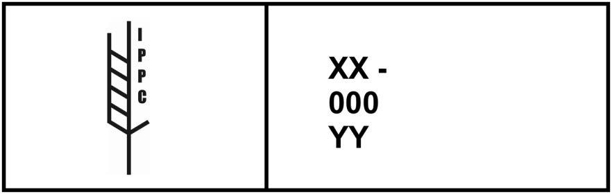 Đánh dấu cho thấy rằng các vật liệu đóng gói bằng gỗ đã qua xử lý kiểm dịch thực vật đã được phê duyệt phù hợp với ví dụ ISPM 15 2