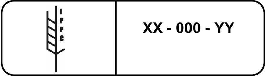 ทำเครื่องหมายแสดงให้เห็นว่าวัสดุบรรจุภัณฑ์ไม้ที่ได้รับภายใต้การรักษาสุขอนามัยพืชได้รับการอนุมัติตามด้วยตัวอย่าง ISPM 15 3