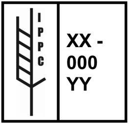 Marking menunjukkan bahawa bahan pembungkusan kayu telah tertakluk kepada rawatan fitosanitasi diluluskan mengikut contoh ISPM 15 5