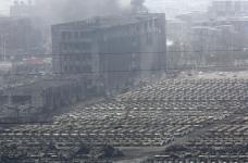 シアン化物の約700トンは倉庫に保管されたTyantszyneで爆発